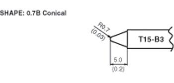 Hakko T15-B3 conical tip